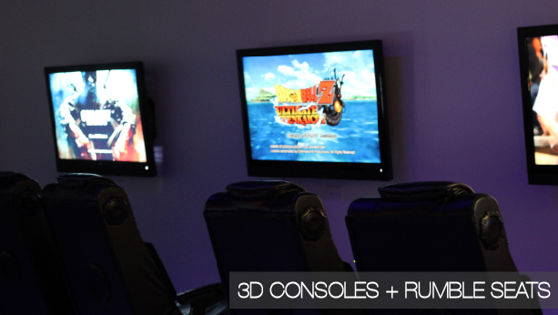3D consoles + rumble seats